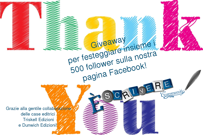 giveaway dei 500 follower di escrivere.com